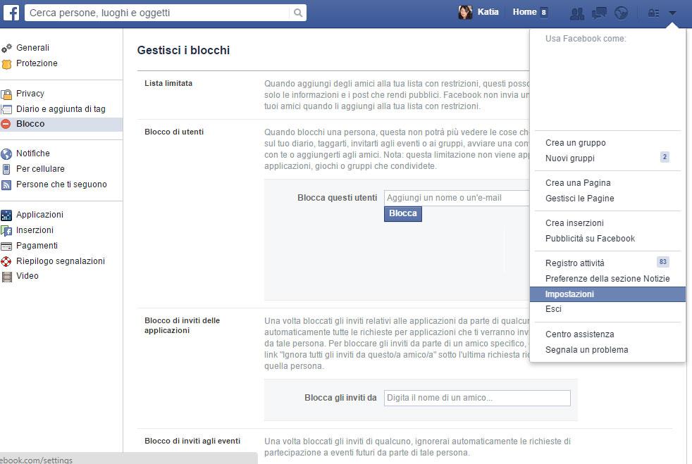 Come bloccare su facebook