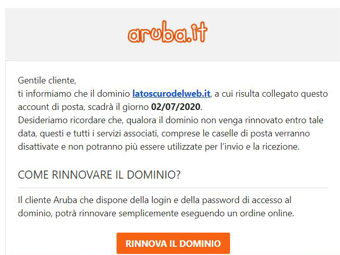 E-mail di phishing